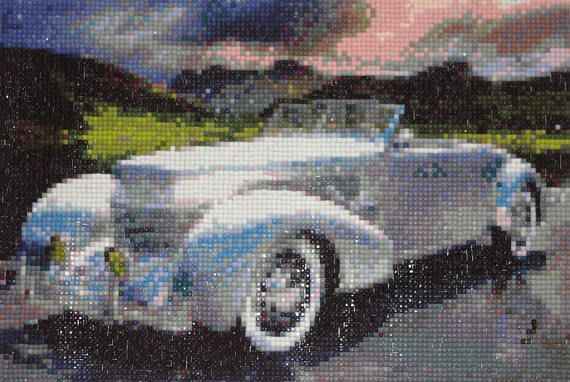 Silver Limousine Diamond Painting Finished Completed Wall