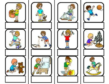 Action Words File Folder Matching Task for Autism:*12 2x2 Cartoon Action Pictures with Blank Label Under(Ready for Print as a File Folder Task)*12 Action Word Labels Solid Lined(File Folder Task Set)*12 Action Word Labels Dash Lined(Cut & Paste Option)*12 Action Word Labels Blank Templates for Writing Words*12 Cartoon Action Pictures(Solid Lined for Switching Up Order)*12 Cartoon Action Pictures(Dashed Lined for Cut and Paste on Blank Template Page)*Blank Lined Template $2.00