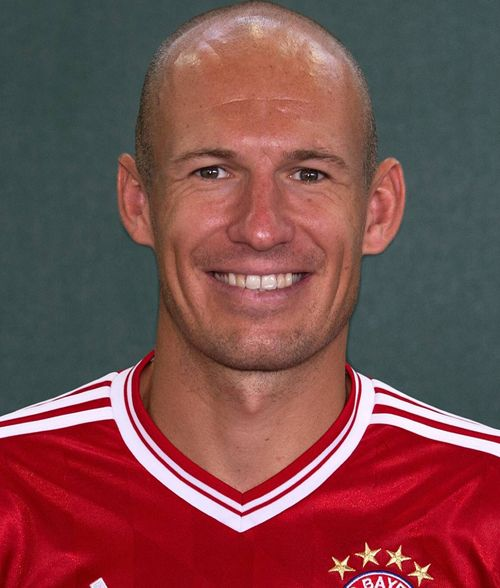 Arjen Robben, soccer star of The Netherlands and Bayern München