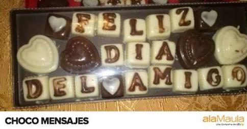 [Regalo Original] #DiaDelAmigo ¡Escribile un mensaje en chocolate! www.alamau.la/Chocotelegrama