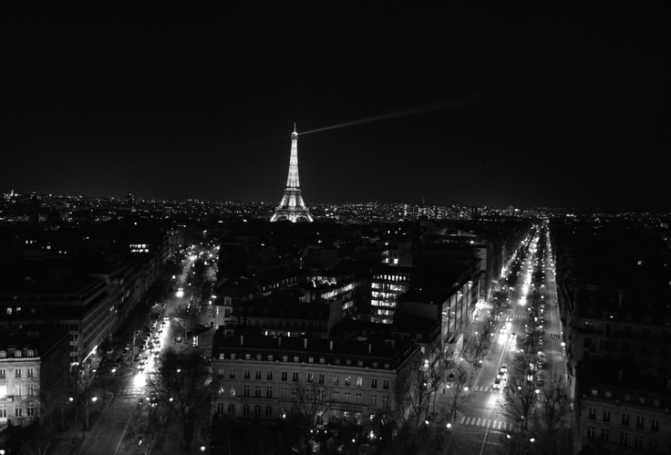 Night view of the Eiffel Tower, what a gorgeous Skyline! #Paris #Skyline #Lights #Night