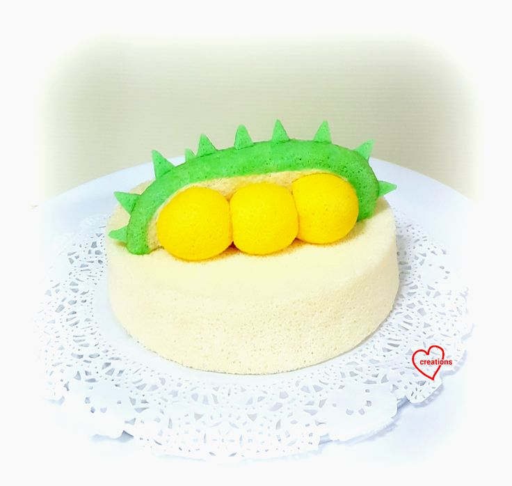 Durian Chiffon Cake, Durian Cottony Cake, Durian Ogura Cake