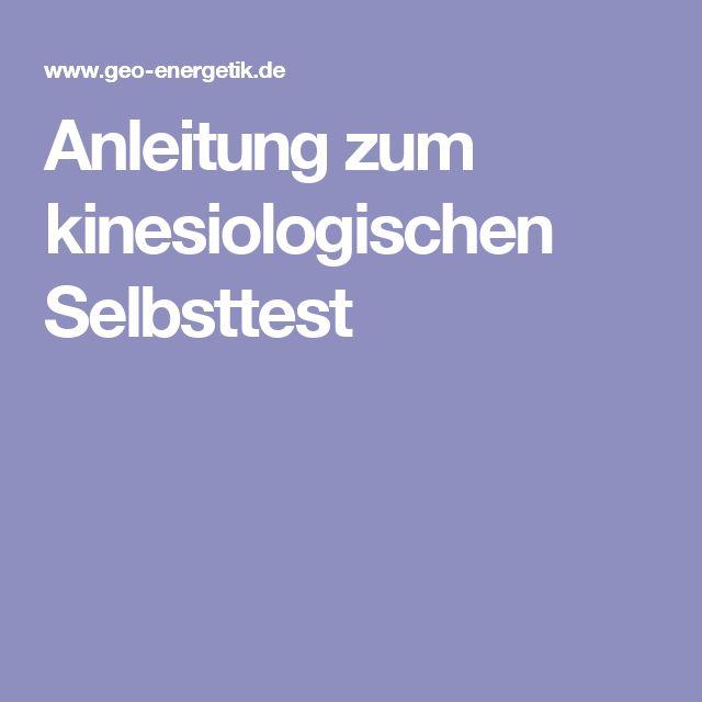 Anleitung zum kinesiologischen Selbsttest