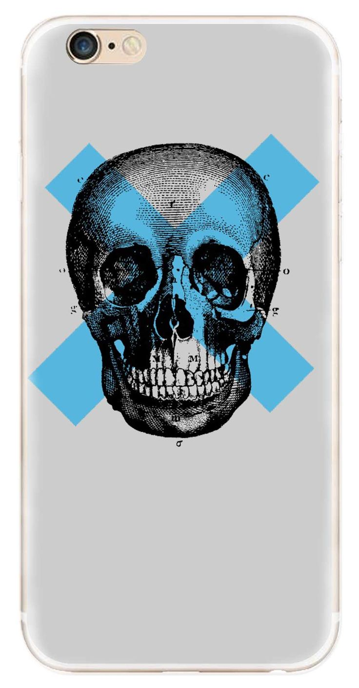 Whatskin DIY Style Skull Heads Series 14 Clear Back Cover for iphone 6