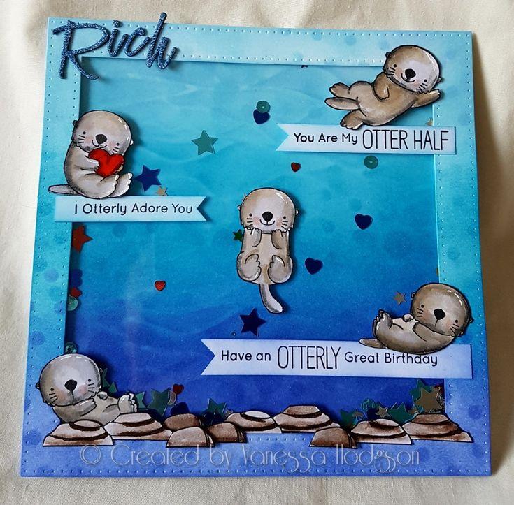 Otterly adorable birthday card
