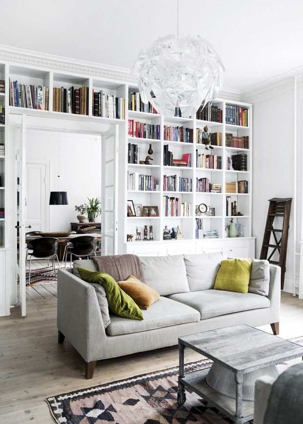 love the book all and the entire living room aesthetic madogbolig the post dreamy modern apartment in copenhagen appeared first on daily dream decor - Shelving Ideas For Living Room