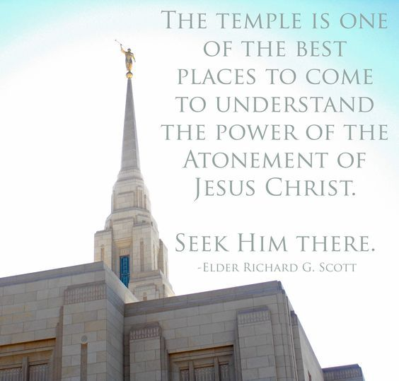 """""""The temple http://facebook.com/163927770338391 is one of the best places to come to understand the power of the Atonement of Jesus Christ. http://pinterest.com/pin/24066179232554235 Seek Him there."""" From #ElderScott's http://pinterest.com/pin/24066179229025576 inspiring #LDSconf http://facebook.com/223271487682878 message http://lds.org/general-conference/2014/10/make-the-exercise-of-faith-your-first-priority #ShareGoodness"""