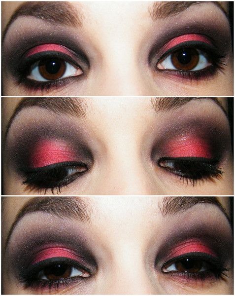 Gaelle M. Black & Red love me some eye makeup