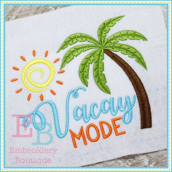 Vacay Mode Design. Summertime saying. Vacation tshirt. DIY supplies. Make your own tshirt or bodysuit. Great gift idea for upcoming birthday.