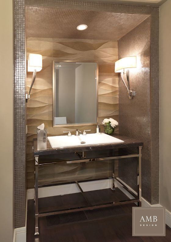 Powder bath design by Anne Marie Barton #ambdesign #interiordesign  #organicmodern #powderbath