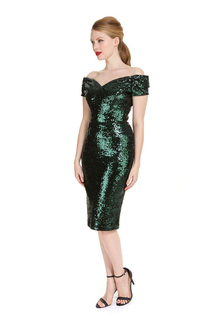 Forest Green Sequin Dress