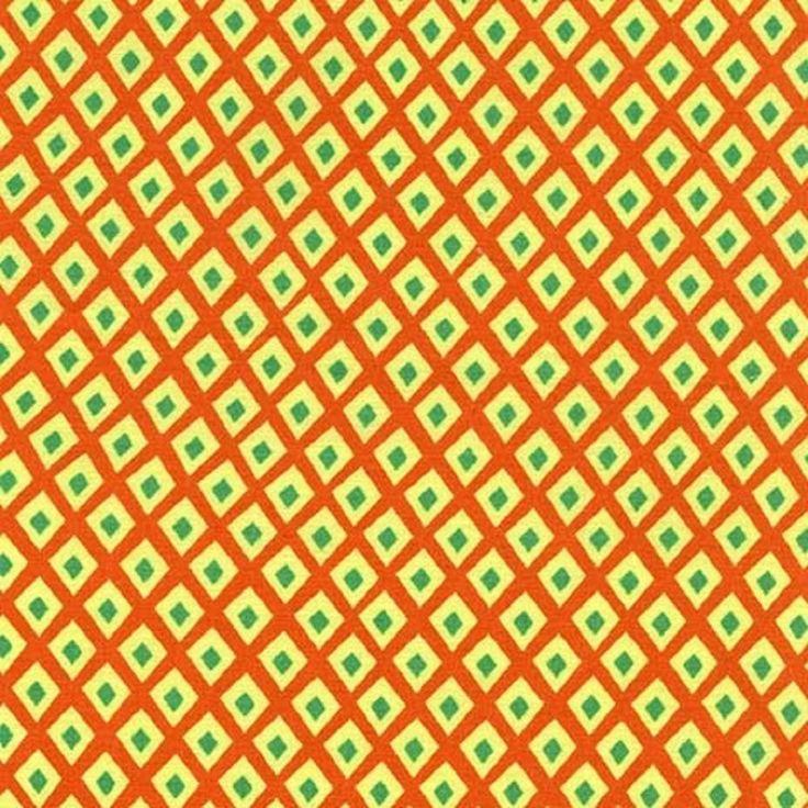 Michael Miller Origami Oasis Spot Citrine Grass Land 100% Cotton Fabric