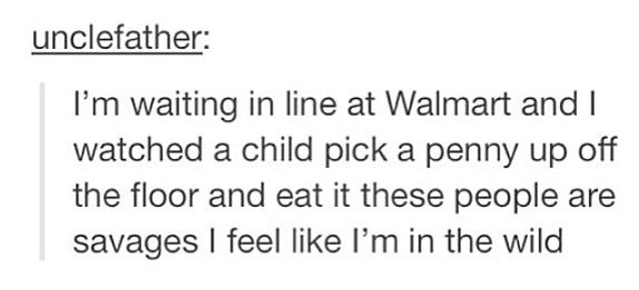 walmart is a scary scary place