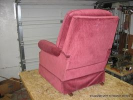 reupholstering a lazy boy chair