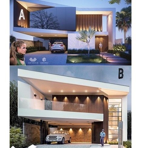 Bom Dia!! Qual arquitetura você mais gosta ??? Duas fachadas, dois projetos diferentes …   – 3D Visualization
