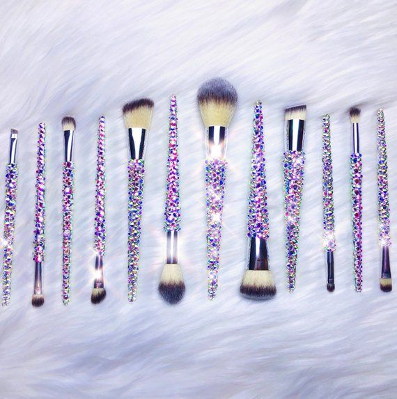 12 Piece Bring On The Bling Collection In Silver Blinged Brushes