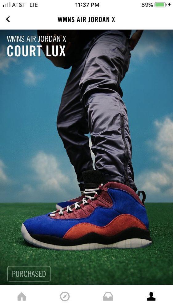 sale retailer 14bab b5f27 eBay link) Womens Air Jordan 10 Court Lux Maya Moore ...