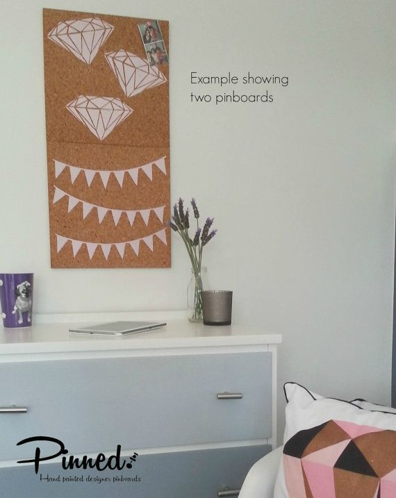 Bunting flag design pinboard hand painted cork board by pinnednz #pinboard #corkboard #girlsbedroom #bunting #diamonds #teepees #clouds http://binaryoptions360review.com/