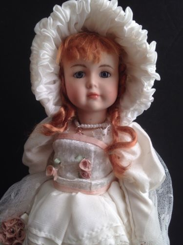 Gorgeous-Antique-All-Bisque-11-034-Doll-Repro-w-ELABORATE-SAILOR-OUTFIT-Bru-Look