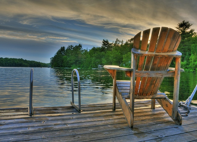 Ultimate Relaxation Muskoka Chair Adirondack Chair Cottage Deck Lake