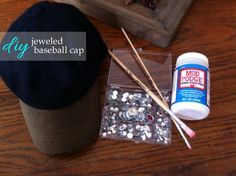 DIY Jeweled Baseball Cap