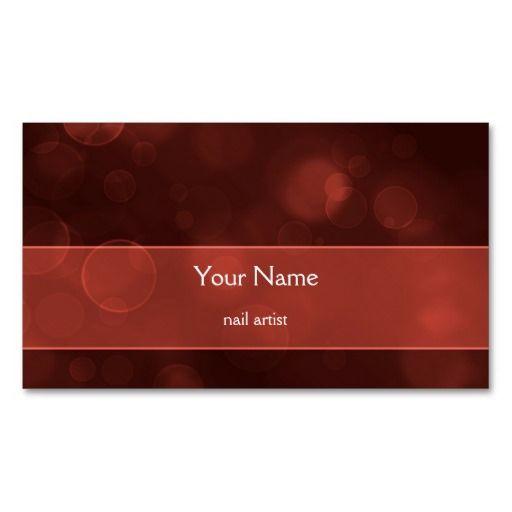 Elegant red bokeh Business Card