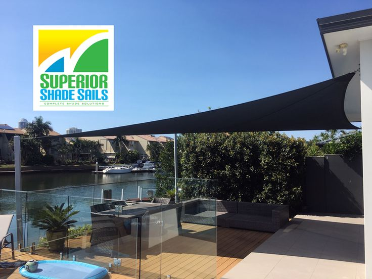 Runaway bay canal lifestyle - Installation of a Patio Shade Sail by Superior Shade Sails. To take a look at more of our work please visit our website http://www.superiorshadesails.com.au or call for a Quote on 0429 220 298.
