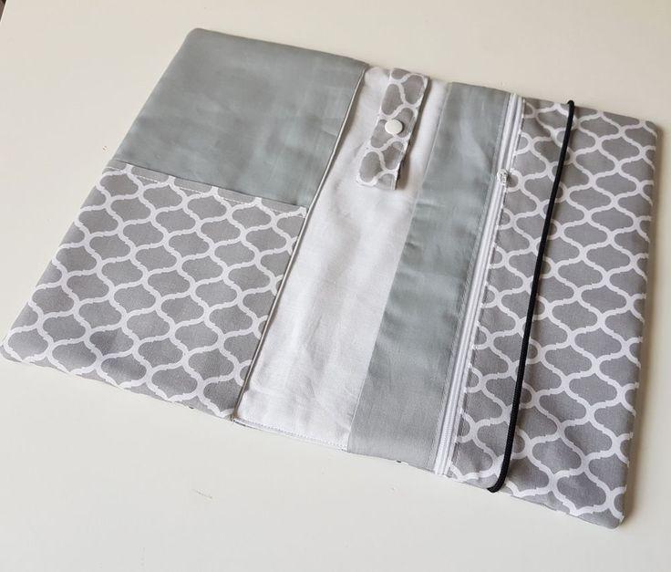 Linke Seite: 1 kleine Tasche für zB Impfausweis - darunter 1 extra Tasche für bis zu 5 Windeln Gr. komplett aus Baumwolle - waschbar bei bis zu 40 Grad! Wunderschöne und superpraktische Windeltasche. | eBay!