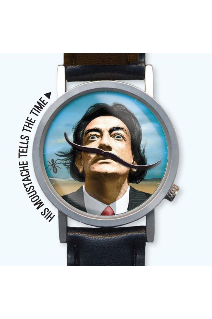 The Salvador Dali Watch - The surreal wristwatch with moustache hands. by
