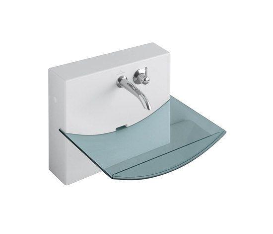 Este lavabo ed pequeño y elegante, construido con materiales resistentes para el el baño.