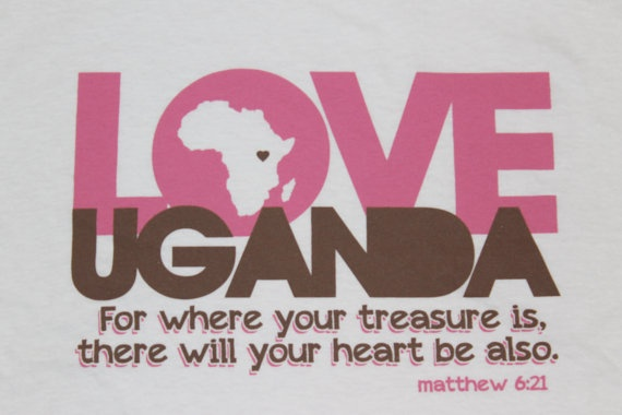 LOVE UGANDA T-Shirt {{love}} from etsy shop Crazy, my bible memory verse!!.