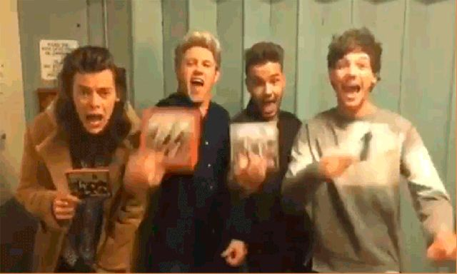 """Haha Louis he's like """"look Liam look what I've got look!"""" Love em all and the new album. With one direction by my side, nobody can drag me down!"""