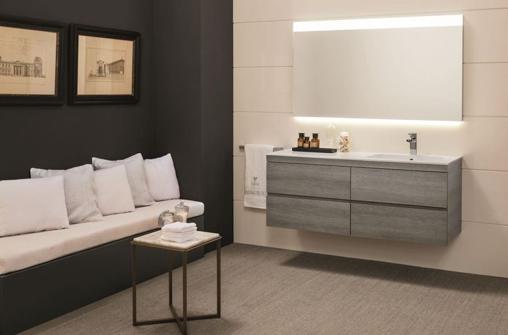 Natural, tranquil tones from @OasisGroupSrl for a soothing bathroom.