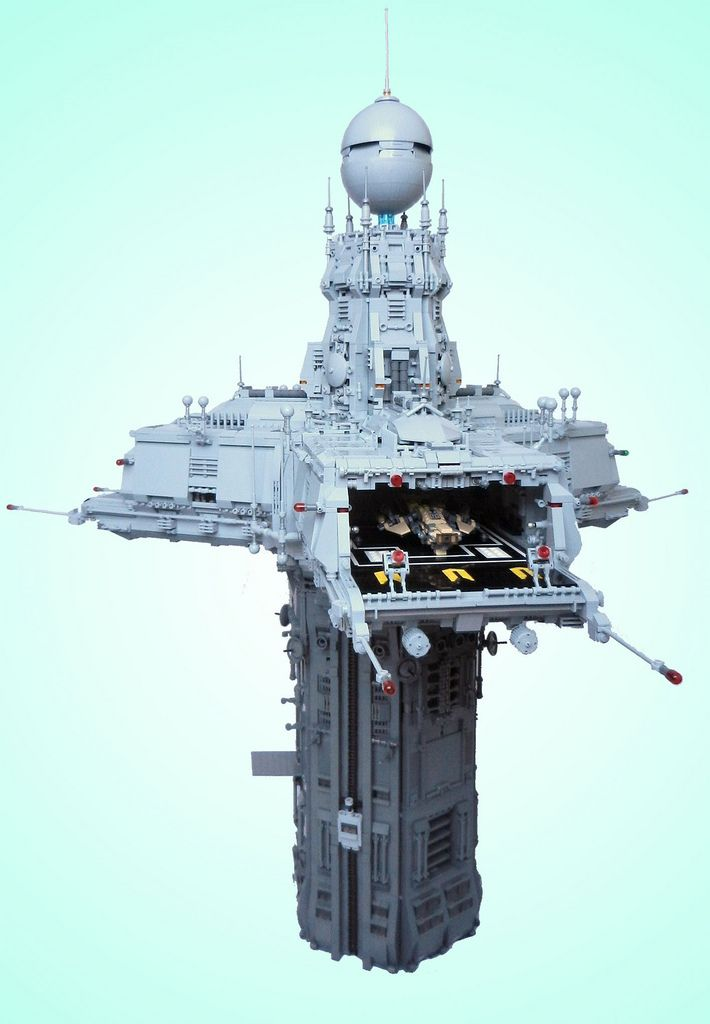 Triport Spire: Lego Tower That Looks Like A Prop For A Sci-Fi Movie