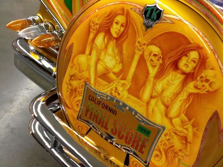 15 best lowrider car murals images on pinterest lowrider for Airbrush car mural