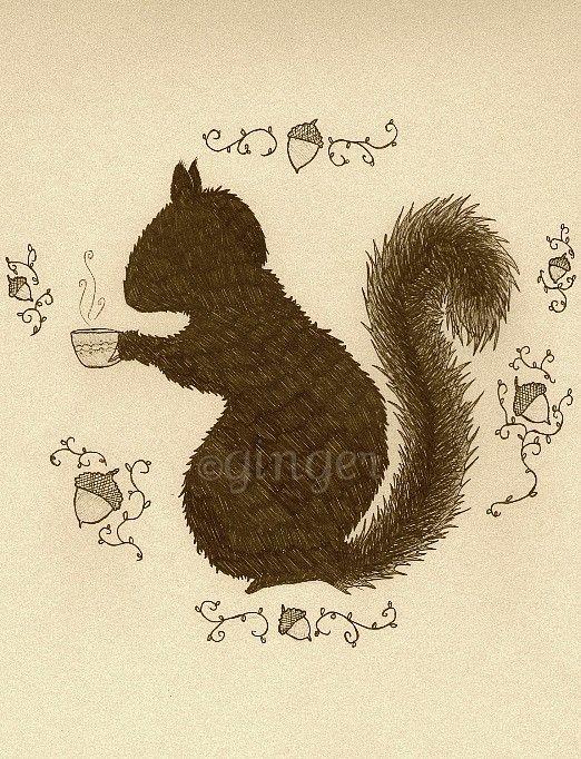 Squirrel's Teatime