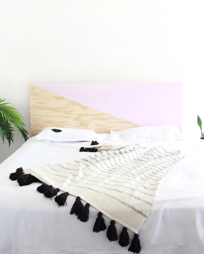 DIY How To Make a Painted Plywood Headboard