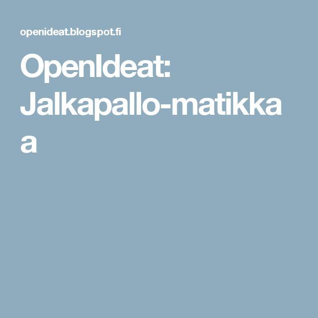 OpenIdeat: Jalkapallo-matikkaa