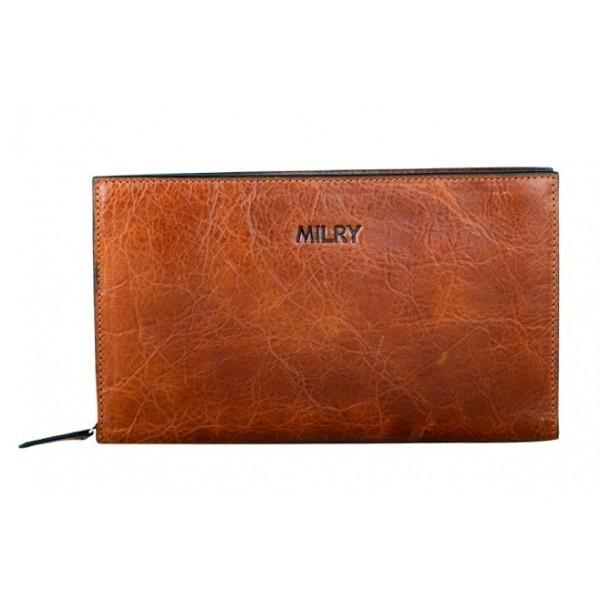 Handmade Leather Designer Business Men Wallet With Strap - Men Bags - handbag shop