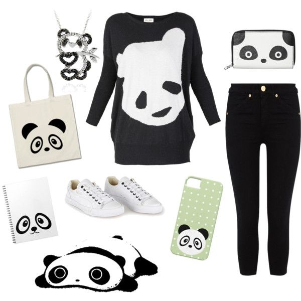 """""""Simple panda outfit"""" by mandyfloss on Polyvore"""