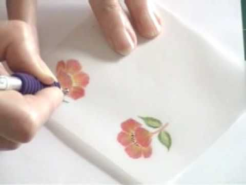 Burnishing colored pencils on parchement...by Gemini Crafts...very good video....