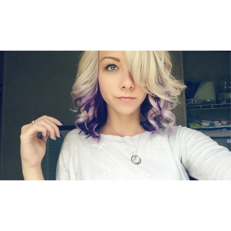 Purple and blonde hair                                                                                                                                                      More