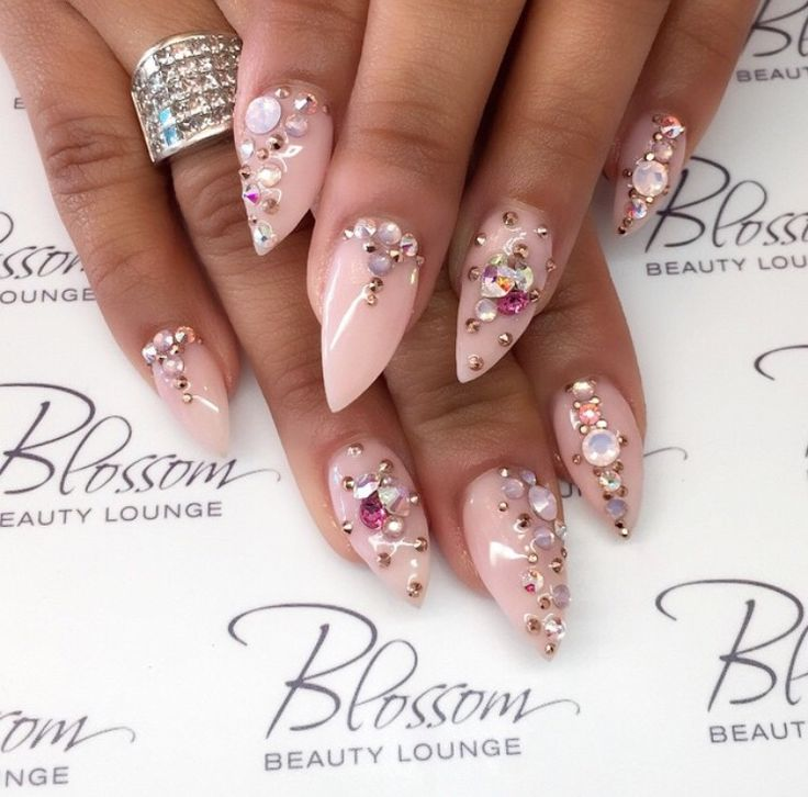 Stiletto Nail Art With Diamonds: 17 Best Images About Swarovski Nails On Pinterest