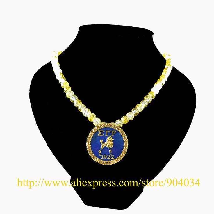1pc free shipping Wholesale Greek Sigma Gamma Rho Sorority  SGR 1922 crystal necklace Jewelry