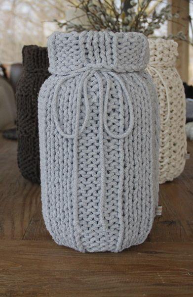 Wazon ubrany w sznurek w MANUFAKTURA Pracownia Artystyczna na DaWanda.com