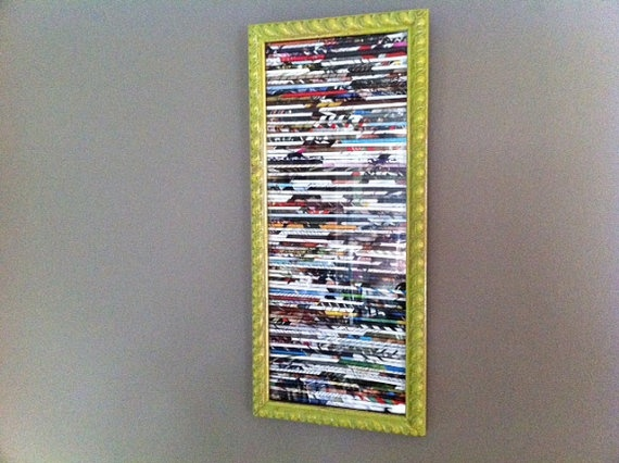 Framed Rolled Magazine Wall art by regrooved on Etsy, $25.00