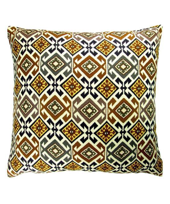 Gray & Yellow Geometric Southwestern Throw Pillow Cover