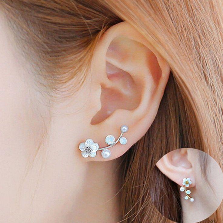 1Pair Women Lady Elegant Crystal Rhinestone Ear Stud Earrings Fashion Jewelry   #UnbrandedGeneric #EarStud