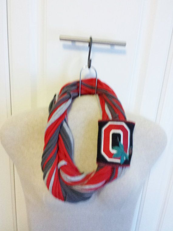 Ohio State T Shirt Scarf with OSU Logo by ConnieSuesCreations, $19.99