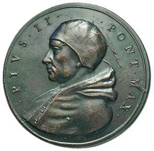 Artemide Aste - Asta XXVI: 1255 - Pio II (1458-1464) Medaglia di restituzione, conio di Girolamo Paladino (D/) e bottega Hamerani (R/) - metà XVIII-XIX sec. - Dea Moneta